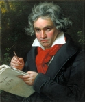 Beethoven componiendo una ámbar